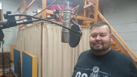 Салих Буковян в звукозаписно студио