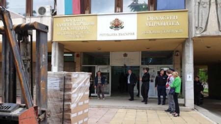 132 000 бюлетини за евровота на 26 май за Регион Кюстендил пристигнаха днес под полицейска охрана.
