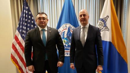 Министър Маринов със зам.-директора на Сикрет Сървис Уилям Калахан
