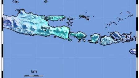Епицентърът на земетресението в Индонезия