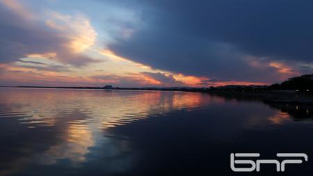 Sunset over Pomorie