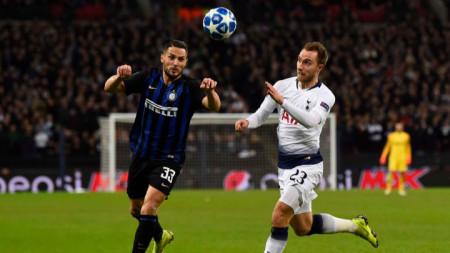 Кристиан ериксен (вляво) вкара победния гол за