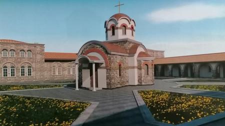 Макет на новия храм