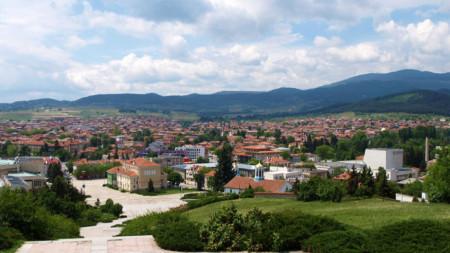 Панорамен изглед от Панагюрище