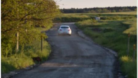 Път с фрезован асфалт в Добрева чешма 2014 год