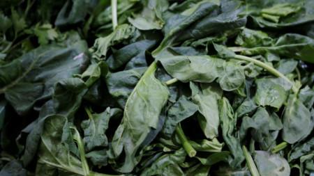 Смята се, че отравянето вероятно е причинено от химикали, с които листните зеленчуци се обработват, за да бъдат по-дълго време свежи.