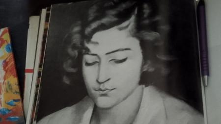 Една от изчезналите картини на Владимир Димитров - Майстора.