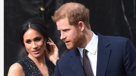 Херцогинята на Съсекс Меган Мaркъл със съпруга си принц Хари