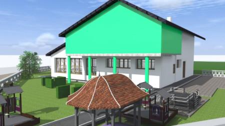 Проект на бъдещата детска градина в с. Бело поле