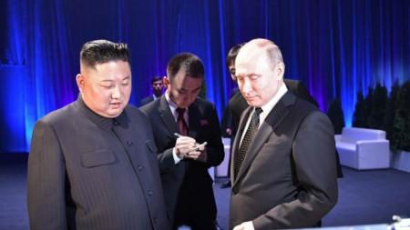 Ким Чен-ун и Владимир Путин