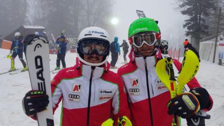 Камен Златков (вдясно) изпревари Алберт Попов в Банско.