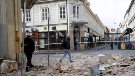 Силно земетресение от над 6 по Рихтер в Хърватия