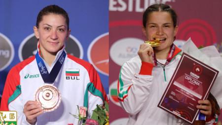 Евелина Николова (на снимката вляво) тушира Биляна Дудова