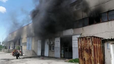 Горящите пхостройки в Пловдив