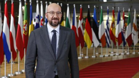 """""""Чакането няма да направи нещата по-лесни, време е за решения"""", каза председателят на Европейския съвет Шарл Мишел преди срещата на върха на ЕС."""