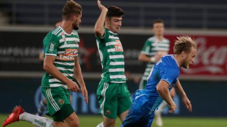 Гент победи с 2:1 Рапид (В) и се класира за плейофите в Шампионската лига