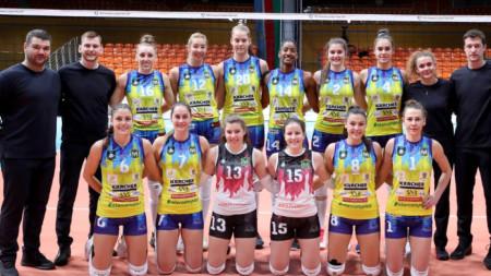 Отборът на Марица допусна загуба с 2:3 гейма от полския Лодз в Шампионската лига по волейбол за жени