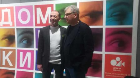 Димитър Маринов (вляво) и Стефан Китанов, директор на София филм фест
