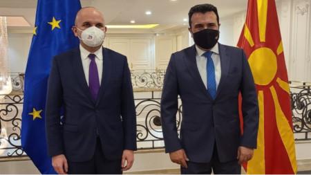 Ilchan Kjutschjuk (l.) und Zoran Zaev