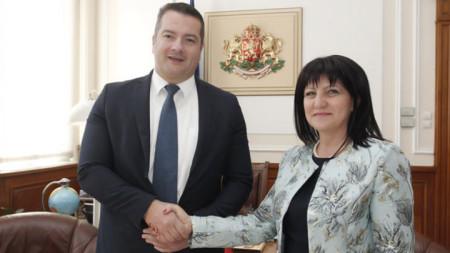 Adrian Vuksanović und Zweta Karajantschewa