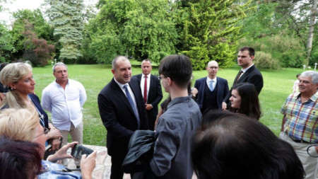 Президентът Румен Радев на среща с българската общност в Женева