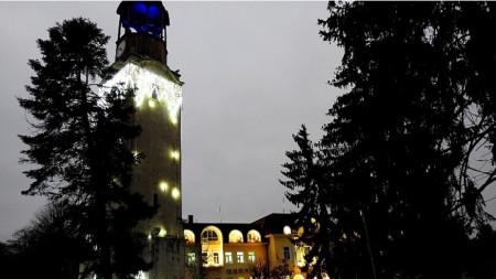 Коледна украса в Разград