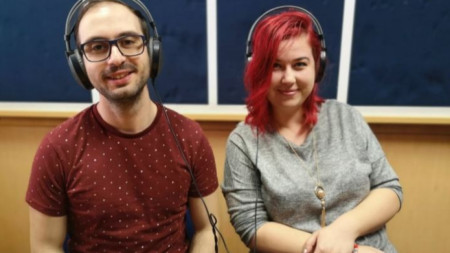 Красимир Николов и Виктория Викторова в студиото на