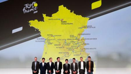 Редица големи колоездачи бяха на представянето на маршрута на Обиколката на Франция.
