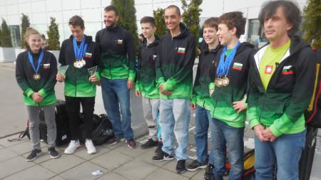 Националният отбор след завръщането си от Русия