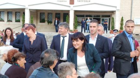 Председателят на НС посети Чипровци по повод честването на 330 години от избухването на Чипровското въстание.