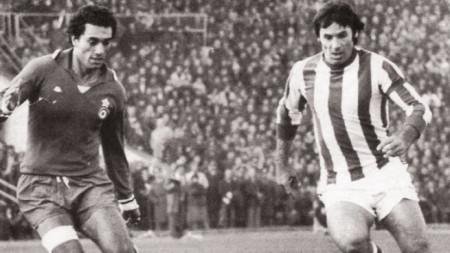 Петко Петков (вдясно) игра при победата над Ювентус в Стара Загора.