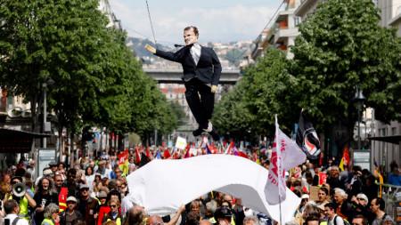 Демонстрация за Деня на труда в Париж