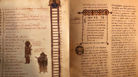 Два от трите ръкописа с цветни рисунки, които са на повече от 1000 години.