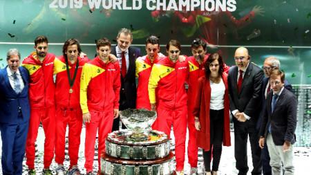 """Испания спечели за шести пък Купа """"Дейвис"""" в Мадрид през миналата година."""