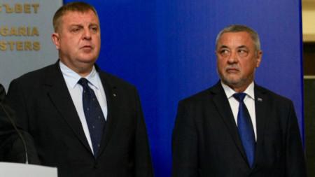 Красимир Каракачанов и Валери Симеонов (вдясно).