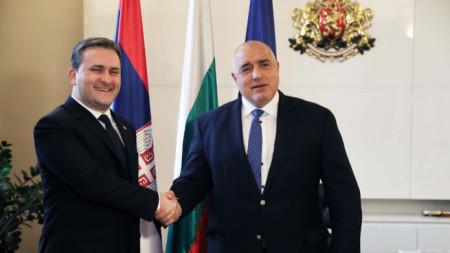 Премиерът Бойко Борисов и външният министър на Сърбия Никола Селакович