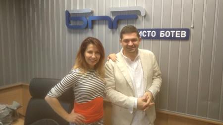 """Ива Дойчинова и д-р Милен Врабевски в студиото на """"Нашият ден"""""""