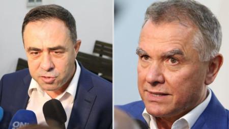Бившият зам.-министър на екологията Красимир Живков (вляво) и бизнесменът Атанас Бобоков.