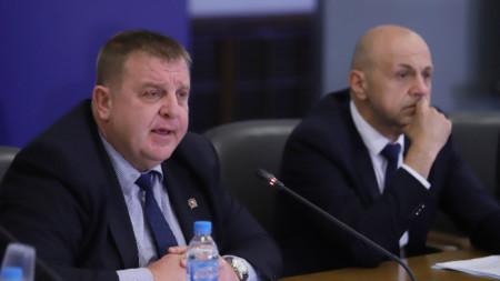 Красимир Каракачанов и Томислав Дончев