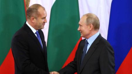 Zotërinjtë Radev dhe Putin