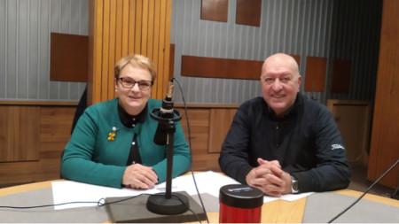 """Аделина Филева и Емил Янев в студиото на програма """"Христо Ботев"""""""