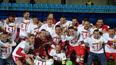 Цървена звезда стана шампион на Сърбия за 31-и път в своята история