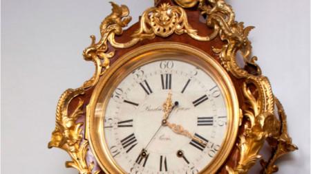 Часовник, изработен от Жан-Пиер Латц във Франция в средата на 18-и век, включен в колекцията на Ермитажа, Санкт Петербург, Русия