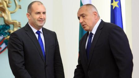 Rumen Radev and Boyko Borissov