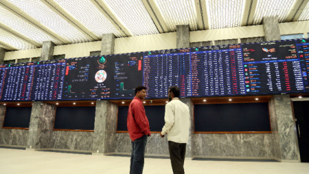 Фондовата борса в Карачи.