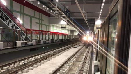 Метростанцията в кв.