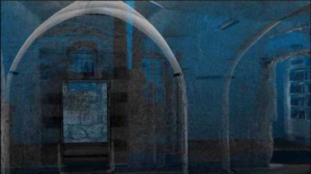 Каменната зала на Тайната вечеря се намира на горния етаж на гробницата на цар Давид в Йерусалим