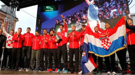Хиляди посрещнаха шампионите в Загреб