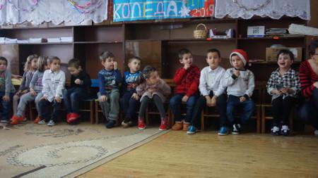 Деца в детска градина в село Градец
