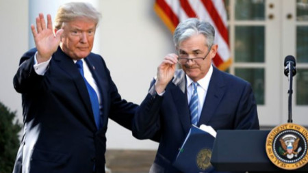 Президента на САЩ Доналд Тръмп и шефа на Фед Джером Пауъл